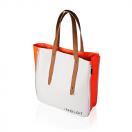 Soma SHOPPING BAG WHITE & ORANGE